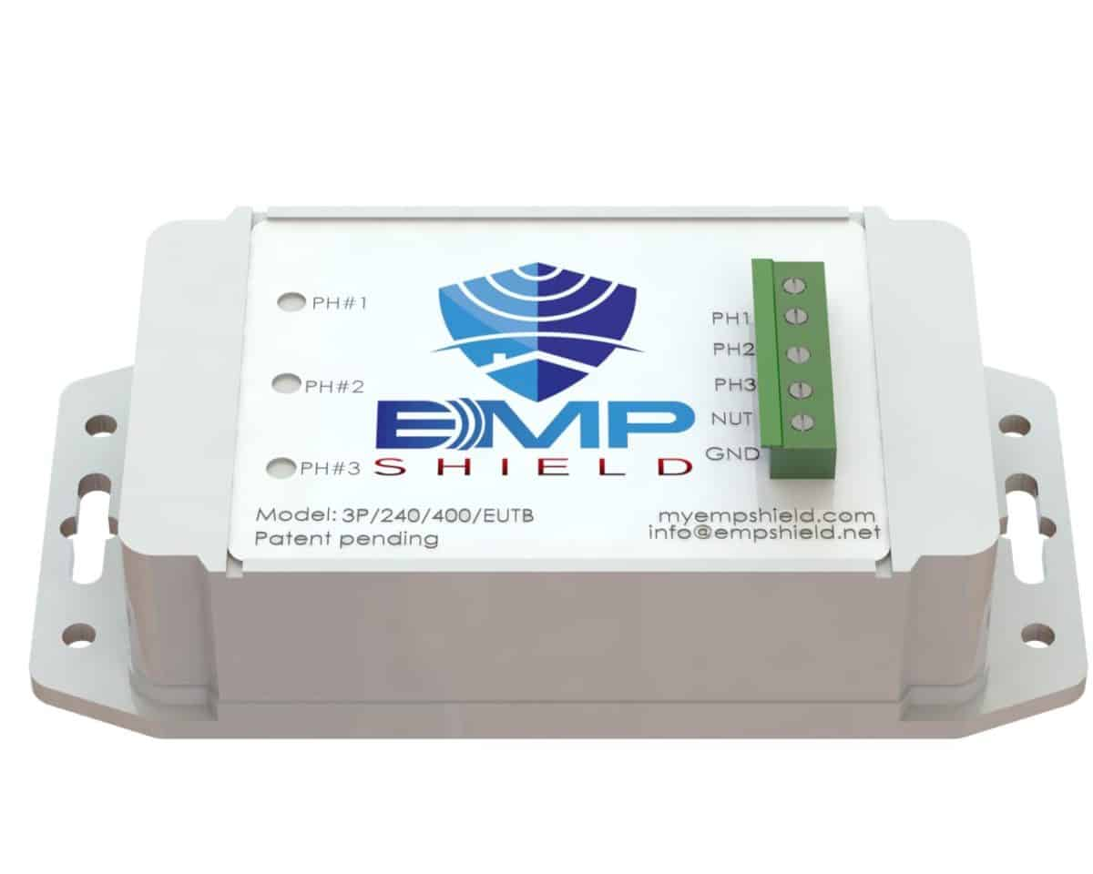 EMP Shield 120-208 Volt AC 3 Phase Generator / Industrial Model Terminal Box Version 1