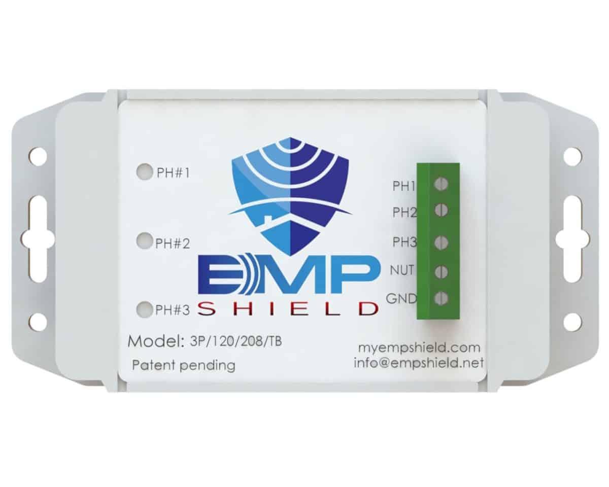 EMP Shield 120-208 Volt AC 3 Phase Generator / Industrial Model Terminal Box Version 3